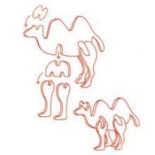 """Деревянный мини-пазл 3D """"Верблюд"""", 11,5x7,3x0,3 см, арт. MA1001, Китай"""