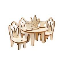 """Мебель для кукол """"Принцесса LO! Столик со стульями"""", IQ FORMAT"""