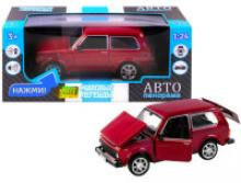 Модель автомобиля ВАЗ-21214, бордовая, масштаб 1:22, Автопанорама