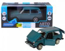 Модель автомобиля ВАЗ-21214, синяя, масштаб 1:22, Автопанорама