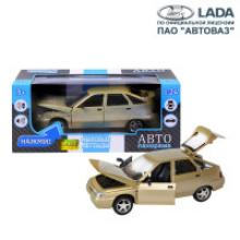 Модель автомобиля ВАЗ-2112, золотая, масштаб 1:22, Автопанорама
