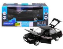 Модель автомобиля ВАЗ-2112, черная, масштаб 1:22, Автопанорама
