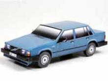 Сборная игрушка из картона - автомобиль Volvo 740 (синий), Масштаб 1:24, Умная бумага, 187-02