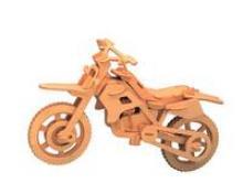 """Модель деревянная сборная """"Внедорожный мотоцикл"""", Чудо-дерево (VGA Wooden Toys)"""