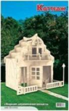 Коттедж. Сборная деревянная модель (2 пластины), Мир деревянных игрушек (МДИ)