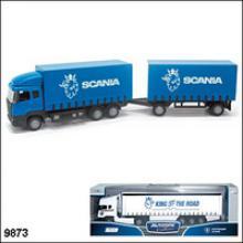 """Машинка металлическая """"Scania Trailer"""". Автопоезд, 1:87, Autotime"""