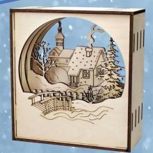 """Сборная деревянная модель """"Домик в деревне"""", Чудо-дерево (VGA Wooden Toys) 80108"""