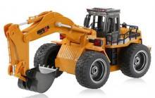 Радиоуправляемый колёсный экскаватор, 1:16 2.4GHz, Hui Na Toys HN1530