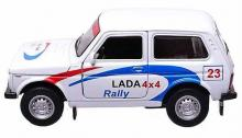 Масштабная металлическая модель автомобиля Lada 4x4 Нива (ВАЗ-2121), Rally, 1:34-39, Welly 42386RY