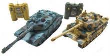 Радиоуправляемый танковый бой Leopard 2A5 vs Tiger I 1:28 RTR 27MHz, инфракрасный, Zegan ZEG-99823