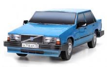 Сборная игрушка из картона - автомобиль Volvo 740 (синий), Масштаб 1:24, в собранном виде - фронт, Умная бумага, 187-02