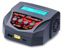 Универсальное зарядное устройство G.T.Power C6D mini 6A 60W, включеный вид , G.T.Power GTP-C6D-MINI