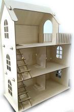 """Деревянный конструктор """"Eco Дом"""", вид под углом, Polly ДК-1-004"""