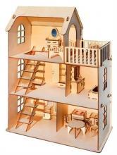 """Деревянный конструктор """"Eco Дом"""", пример с мебелью - вариант 2, Polly ДК-1-004"""