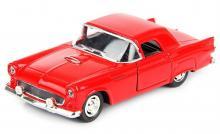 """Машина металлическая, инерционная """"Retro Youth"""", цвет - красный, вид спереди - сверху, Hoffmann 61227"""