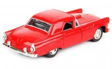 """Машина металлическая, инерционная """"Retro Youth"""", цвет - красный, вид спереди - сзади, Hoffmann 61227"""