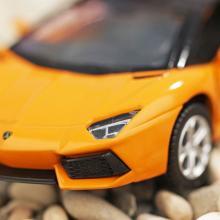 """Коллекционная металлическая модель """"Lamborghini Aventador LP700-4 Roadster"""", жёлтая перед, IDEAL 118134"""