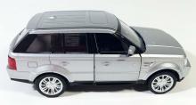 """Коллекционная металлическая модель автомобиля """"Land Rover Sport"""", серебрянный вид сбоку, IDEAL 019064"""