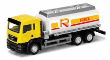"""Коллекционная масштабная, металлическая игровая модель """"Man Oil Tanker"""", вид сверху-сбоку, IDEAL 038031"""