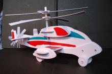 """Конструктор, сборная кордовая модель - игрушка для детского творчества вертолёт """"Винтокрыл"""", в собраном виде, LORI Мв-003"""