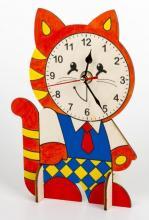 """Сборные деревянные часы своими руками """"Котенок"""", Десятое королевство 01963"""