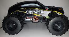 Радиоуправляемая модель Монстра Crasher 4WD RTR 1:18 влагозащита, вид сбоку, Himoto E18MC