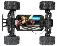 Радиоуправляемая модель Монстра Crasher 4WD RTR 1:18 (б/к система) влагозащита +Li-Po, вид шасси, Himoto E18MCL