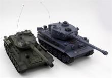 """Радиоуправляемый танковый бой ZEGAN """"Русский Т34"""" и """"Немецкий Tiger"""" 1:28 2.4GHz, инфракрасный, вид спереди, ZEGAN ZEG-99824-RU"""