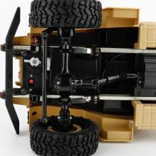 Радиоуправляемая модель Краулера Military Truck M923 4WD RTR 1:16, вид на передний мост, Aosenma WPLB-14