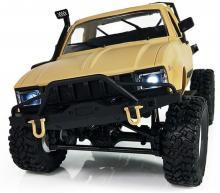 Радиоуправляемая модель Краулера Aosenma Offroad Desert Car 4WD RTR 1:16, вид спереди с включенными фарами, Aosenma WPLC-14