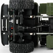 Радиоуправляемая модель Краулера Offroad Truck Газ-66 Шишига 4WD RTR 1:16, вид на переднюю подвеску, Aosenma WPLB-24