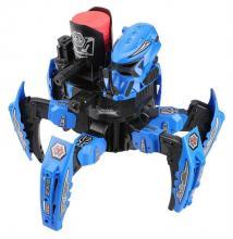 Радиоуправляемый боевой робот-паук Keye Toys Space Warrior (диски), синий вид спереди, Keye Toys KY9005-1