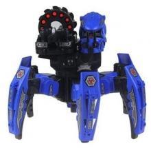Радиоуправляемый боевой робот-паук Space Warrior с лазерным прицелом (ракеты) 2.4GHz, синего цвета вид спереди, Keye Toys KY9006-1