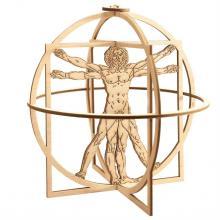 """Сборная деревянная модель """"Витрувианский человек"""" Леонардо да Винчи, верхняя часть, Revell (Ревелл) 00509"""