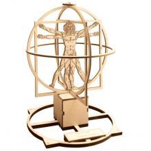 """Сборная деревянная модель """"Витрувианский человек"""" Леонардо да Винчи, с подставкой, Revell (Ревелл) 00509"""