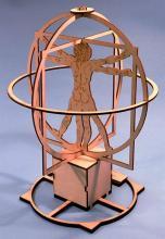 """Сборная деревянная модель """"Витрувианский человек"""" Леонардо да Винчи, вид сзади, Revell (Ревелл) 00509"""