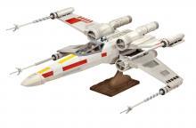 """Сборная модель истребителя крестокрыла """"X-wing Fighter"""" из Звёздных воин (Star Wars), вид на подставке, Revell (Ревелл) 6690"""