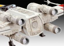 """Сборная модель истребителя крестокрыла """"X-wing Fighter"""" из Звёздных воин (Star Wars), вид сзади, Revell (Ревелл) 6690"""