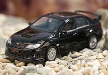 """Коллекционная металлическая модель """"Subaru WRX STI"""", чёрного цвета, IDEAL 034024"""