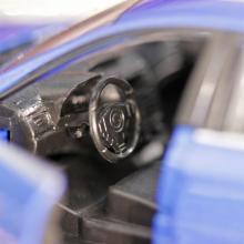 """Коллекционная металлическая модель """"Subaru WRX STI"""", синего цвета - салон, IDEAL 034024"""