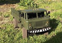 """Взять на прокат радиоуправляемую модель внедорожного грузовика Краулера Газ-66 """"Шишига"""" в Новосибирске, фото вид спереди"""