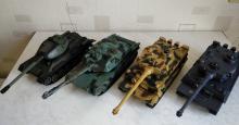 Коллективный прокат танкового боя на радиоуправлении, танки могут ездить, стрелять ИК лучами, поворачивать башни, фото сверху 2